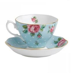 Royal Albert Formal Vintage Teacup and Saucer Boxed Set, Pol