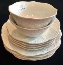 Lenox French Perle Dinnerware Set 10 Pieces White