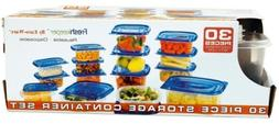 30-Piece. Fresh Keeper Storage Container Set Case Pack 12 Ho