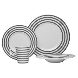 Red Vanilla 4 piece Freshness Lines Place Setting, Grey