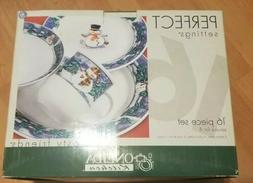 Oneida Frosty Friends 16 piece Dinner Ware Set New in Box Se
