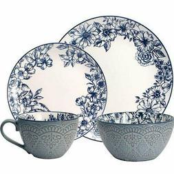 Pfaltzgraff Gabriela 16-piece Stoneware Dinnerware Set, Blue