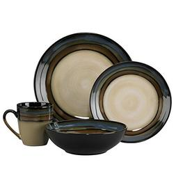 Pfaltzgraff Galaxy 16-piece Round Stripe Stoneware Dinnerwar