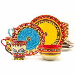 Euro Ceramica Galicia 16 Piece Dinnerware Set, Service for 4