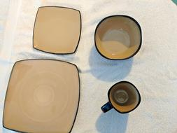 ge soho lounge 16 piece square dinnerware