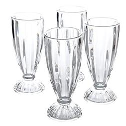 General Store by Gibson Embossed Glass 12 oz Milk Shake Glas