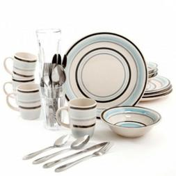 Gibson Deluxe Essentials 32 Piece Dinnerware Set - Blue