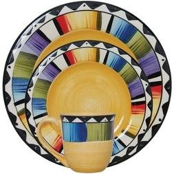 Gibson Home Fandango 16-Piece Dinnerware Set, Yellow