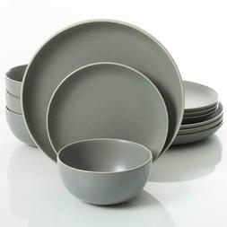 gibson home rockaway 12 piece dinnerware set