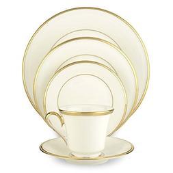 Lenox Eternal White Gold-Banded Bone China 5-Piece Place Set