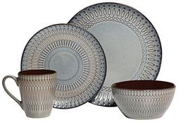 Gourmet Basics by Mikasa Broadway 16 Piece Dinnerware Set ,