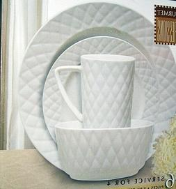 """GOURMET EXPRESSIONS """"RADIANT DIAMONDS"""" 4 Place Setting Stone"""