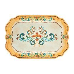 Gourmet Art Tuscany Melamine 20-inch Rectangle Tray