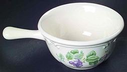 Pfaltzgraff Grapevine  Open Onion Soup Bowls w/ Handles~Ston