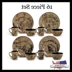 Mossy Oak® Great Outdoors 16-pc. Dinnerware Set