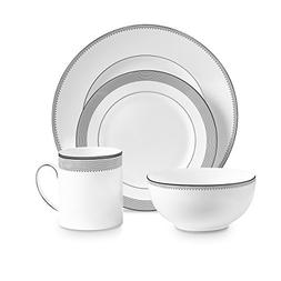 Wedgwood 40030698 Grosgrain 4, 4 Piece Set, White
