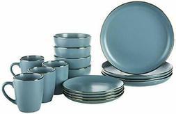 Pfaltzgraff Hadlee Blue 16 Piece Dinnerware Set