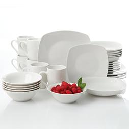 Gibson Home Hagen 30 Piece Dinnerware Set, White