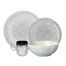 Denby USA Halo 4 Piece Kitchen Collection Dinnerware Set, Sp