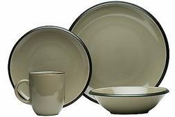 Red Vanilla Hampshire Grey 16-Piece Dinnerware Set $165 - RE
