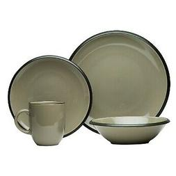 Red Vanilla Hampshire Grey 16-Piece Dinnerware Set