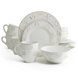 hampton 16 piece stoneware dinnerware set serves