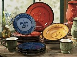 Hand Painted Dinnerware set Tuscany Dishes Unique Plates Col