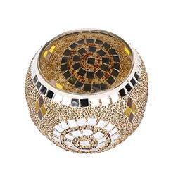 NewKelly Handmade Mosaic Glass Candlestick Wedding Wedding O