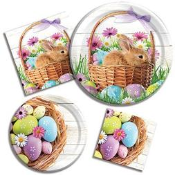 Happy Easter Morning - Plates & Napkins - 8 Guest Party Bund