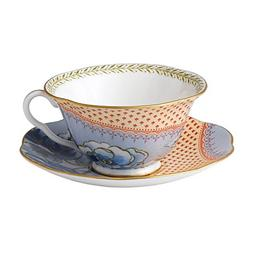 Wedgwood Harlequin Butterfly Bloom Teacup and Saucer Set, Bl