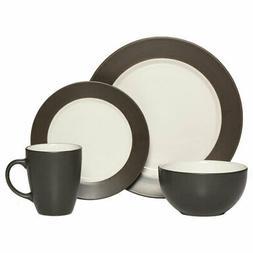 Pfaltzgraff® Harmony Rim Gray 16-pc. Dinnerware Set