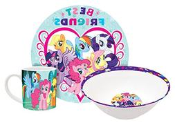Hasbro My Little Pony Group Ponies Dinner Set, Multicolored,