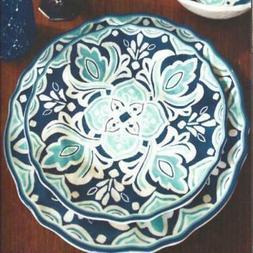Le Cadeaux Havana Dinner Salad Plates Cereal Bowls 12-Piece