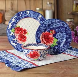 The Pioneer Woman Heritage Floral 12-Piece Dinnerware Set Bl