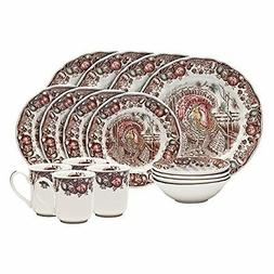 Johnson Brothers 16-piece His Majesty Dinner Set, Multicolor