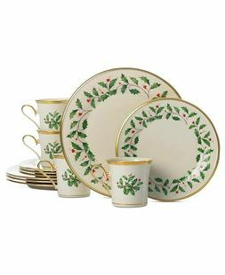 Holiday 12 Piece Dinnerware Set, Service for 4