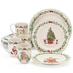 Lenox Holiday Illustrations 12 Pc Dinnerware Set