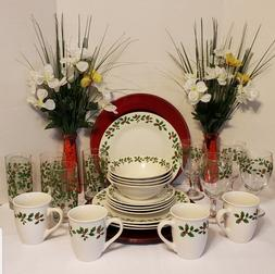 Holly Berry White Stoneware Dinnerware Collection