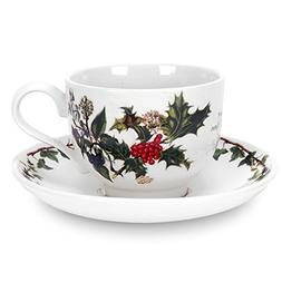 Portmeirion Holly & Ivy Tea Cup and Saucer