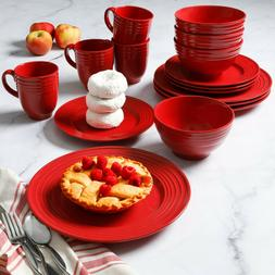 Gibson Home Stanza 16-Piece Dinnerware Set Multiple Colors