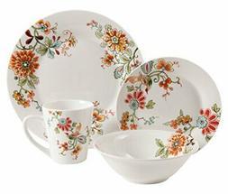 Gibson Home 92950.16RM Doraville 16 Piece Floral Dinnerware
