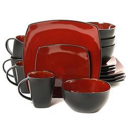 Gibson Home Amalfi 16-Piece Dinnerware Set Microwave Safe