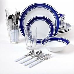 Gibson Home Basic Living 32-Piece Banded Combo Dinnerware Se