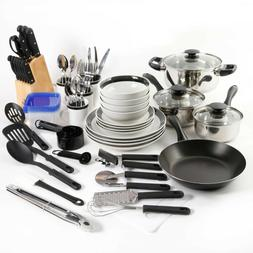 Gibson Home Kitchen In A Box 83 Pieces Combo Set Black Dishw