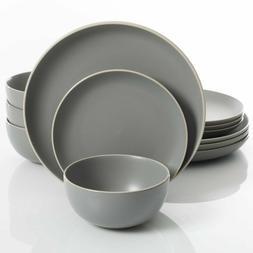 Gibson Home Rockaway 12-Piece Dinnerware Set Service for 4,