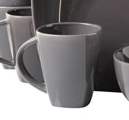 Gibson Home Soho Lounge Square Gray Dinnerware Set *MUGS ONL