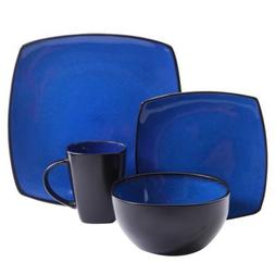 Gibson Home Soho Lounge-Soft Square 16 Piece Dinnerware Set,
