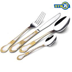 KMYC Hot 16pcs dinner knives fork tableware cutlery <font><b