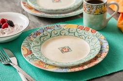 Corelle Impressions 16-Piece Dinnerware Set, Watercolors, Se