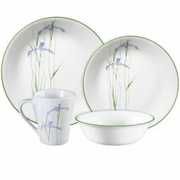Corelle Impressions Shadow Iris 16-Piece Dinnerware Set, NEW